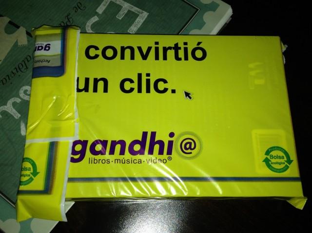 Comprando en la tienda online de la librería Gandhi