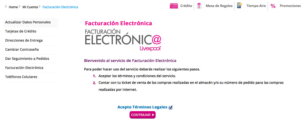 facturacion electronica liverpool