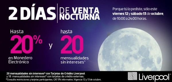 venta nocturna octubre 2012