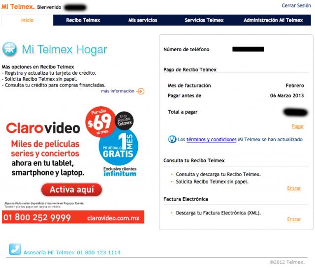 cómo pagar el recibo de telmex por internet cuarto geek