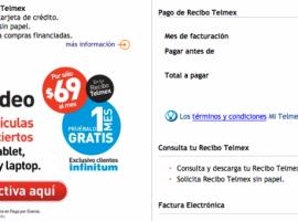 pago telmex recibo internet