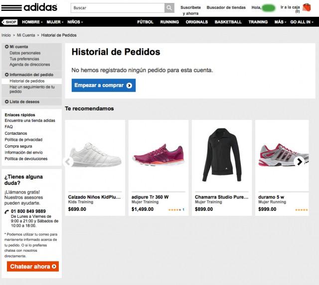 trabajador Instruir para donar  Experiencia al comprar en la tienda en línea de Adidas México » Cuarto Geek