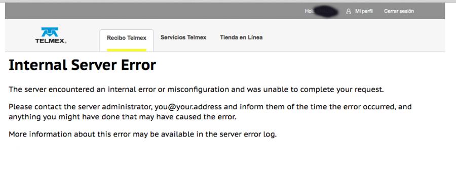telmex-error-internal-server