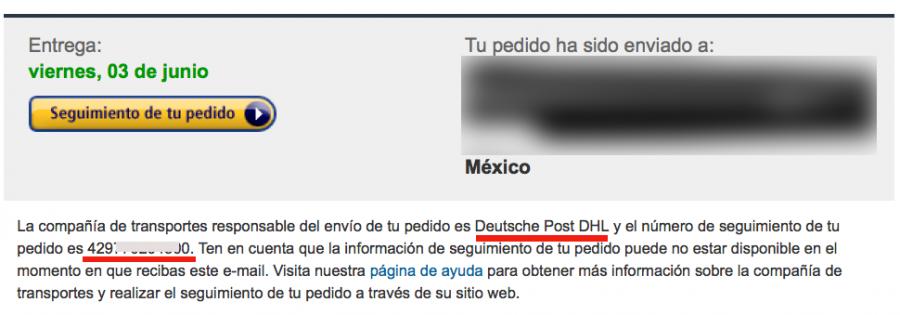 correo amazon españa