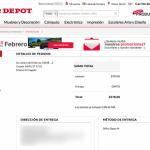 Tienda en línea de Office Depot, experiencia de compra