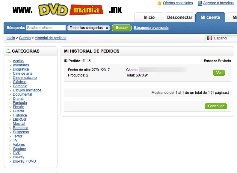 comprar películas en línea
