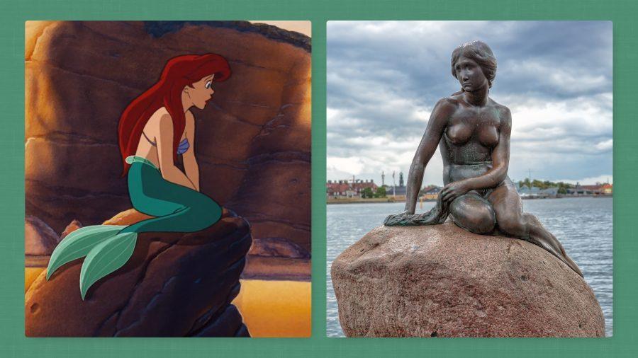 estatua la sirenita homenaje pelicula animada