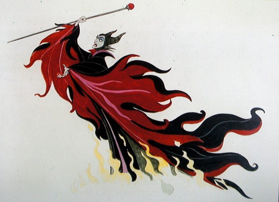 malefica vestuario rojo negro 1