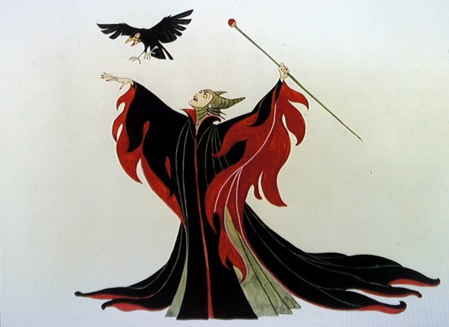 malefica vestuario rojo negro 3
