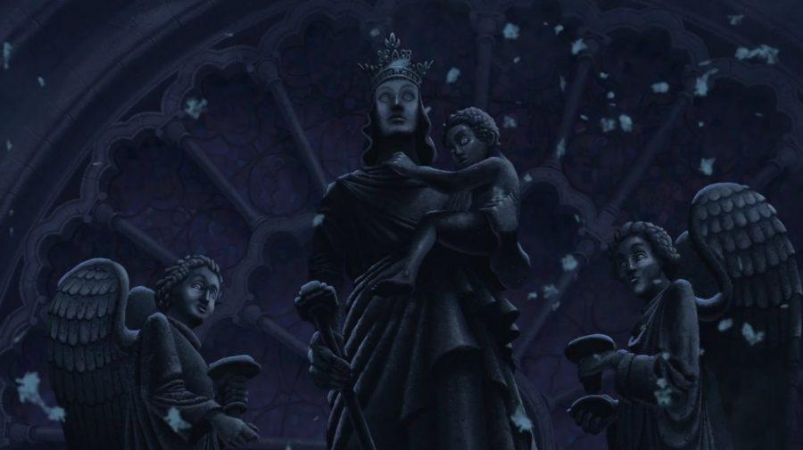 estatua maria jorobado notre dame 1
